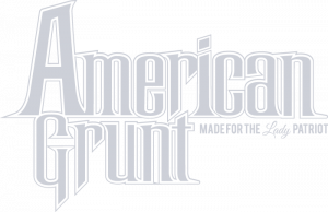 American Grunt Made For The Lady Patriot Logo Silver