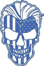 American Grunt Skull blue