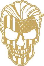 American Grunt Skull gold