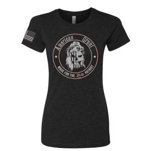 Classic Lady Grunt Tshirt by American Grunt - Black